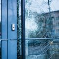Broken Door Glass